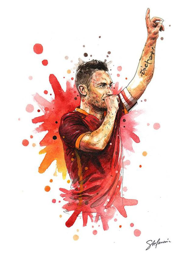 Roma Art: Salah, Totti and Radja illustrated