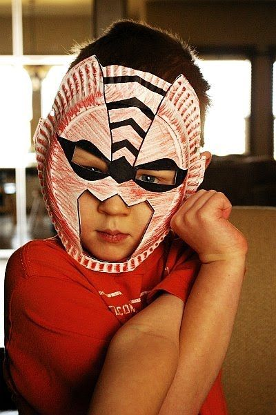 Paper plate masks @Teresa Mack ..you'd appreciate this! haha