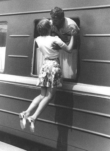 Train window last kiss
