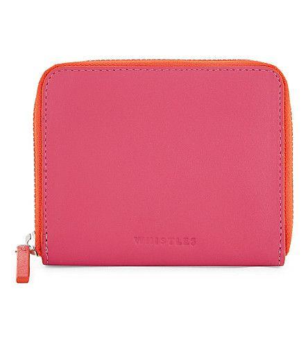 WHISTLES Jaspar Contrast Zip Wallet. #whistles #purses & pouches