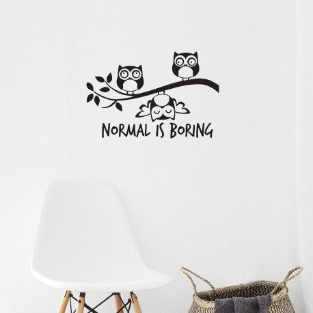 Normal Is Boring –  Wall Decal from wallineed.com