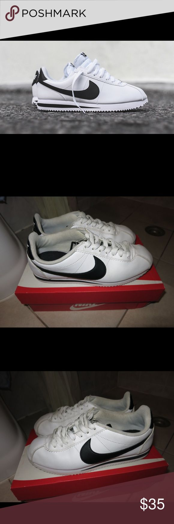 Nike Women Classic Black/White Cortez Worn, but dull in great condition.  These