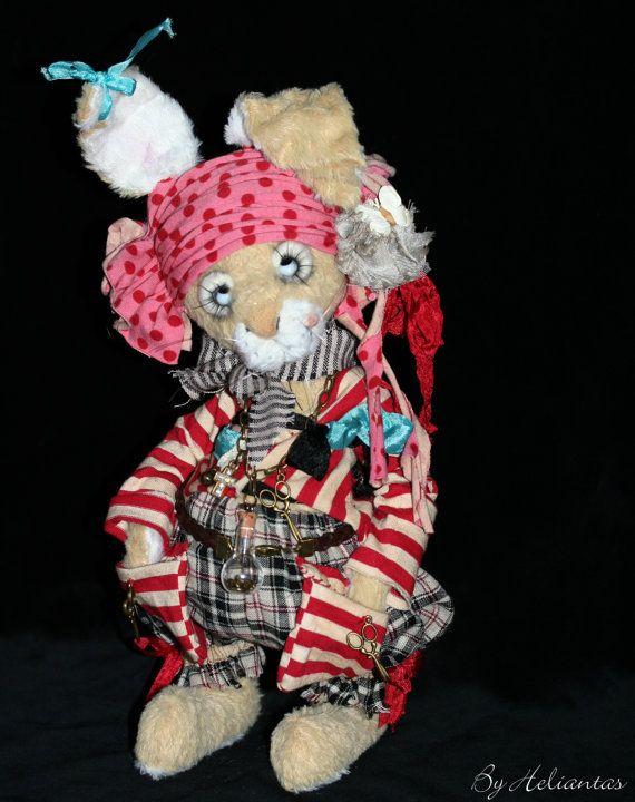 Ooak Handmade bunny plush: Jacquot Sparrow by heliantas on Etsy