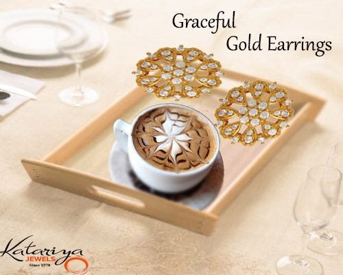 Gorgeous Gold Ear Ring in 22Kt Buy Now :http://buff.ly/1KoGzGf COD Option Available With Free Shipping In India