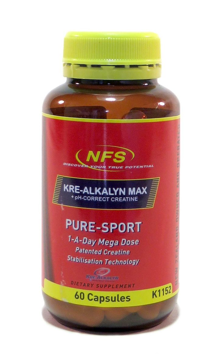 """Kre-Alkalyn® 60 Capsules from Superior Supplements Kre-Alkalyn® is the only creatine product with a pH above 7 because its molecules are synthesized with """"buffering""""  agents using a patented manufacturing process. As a result, it remains completely stable and reaches muscle cells at full strength."""