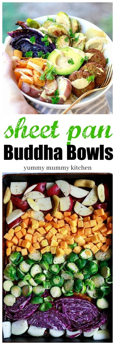 Buddha bowls recipe. Note quite one pan with the quinoa but still sounds worth a try.