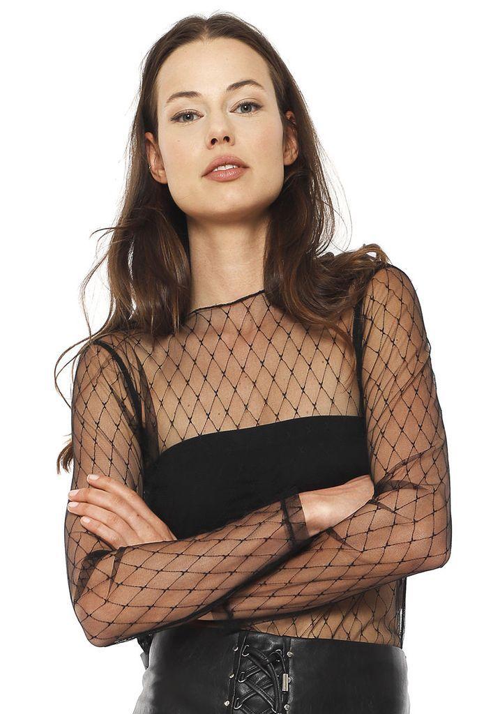 8147138d800 Fully Sheer Women Mesh Net Shirt – BEST WEAR - See Through Shirts - Sheer  Tops - Second Skin Nylon - Transparent Shirt - One and Plus Size - Women Men