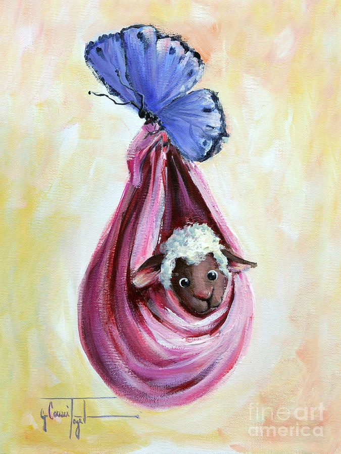 Special Delivery by Sheep Incognito Painting by Conni Togel - Special Delivery by Sheep Incognito Fine Art Prints and Posters for Sale