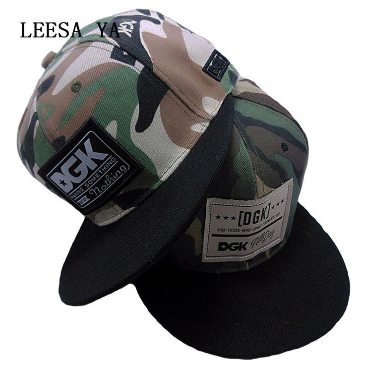 Wholesale Brand DGK Hat Men , Fashion DGK Camo Snapback Caps , Black Gorras Planas Flat Hip Hop Gorra Women , Casquette Homme #Affiliate