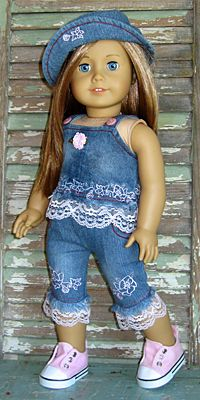 Denim outfit for American Girl doll