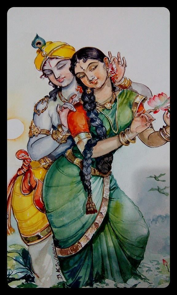 """Dr.Bks Varma · """"I"""" is """"YOU""""….""""YOU"""" is """"ME"""" … IF EVERYTHING IS IN ME then EVERYTHING IS IN YOU AS WELL..I LOVE YOU MEANS… I LOVE ME IN YOU…- water colors"""