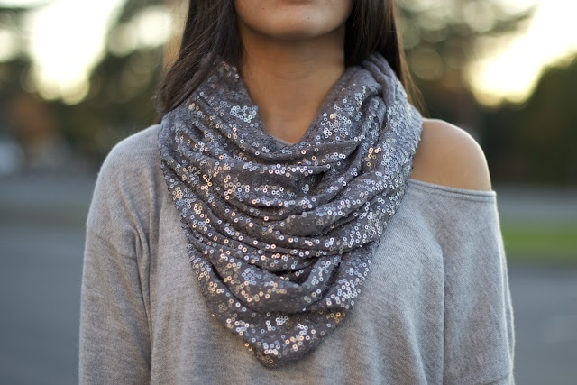 Sequin Scarf.