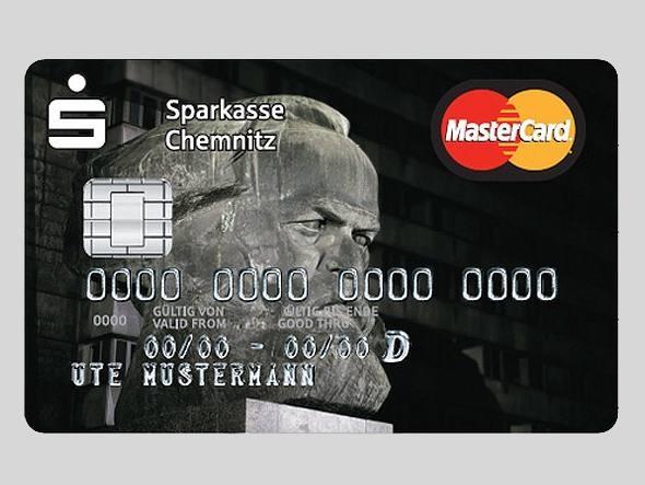 Cartão de crédito com a estampa de Karl Marx
