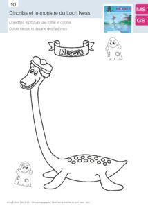 Dinoribs et le Monstre du loch Ness, fiche 09