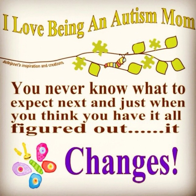The life of an Autism Mom.