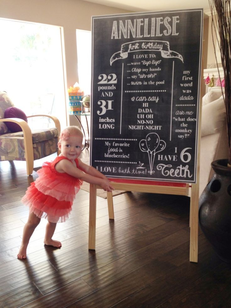 DIY first birthday poster for $5.59!
