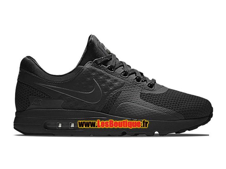 Nike Air Max Zero - Chaussure Mixte Nike Sportswear Pas Cher (Taille Homme)  Noir