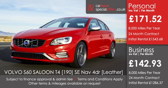 VOLVO S60 SALOON  T4 [190] SE Nav 4dr [Leather]