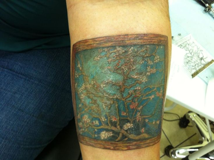 Van gogh almond blossom by knoa at nevermore tattoos for Tattoo fayetteville ar
