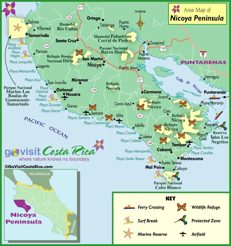 35 best Costa Rica Surf Maps images on Pinterest Surf maps Costa