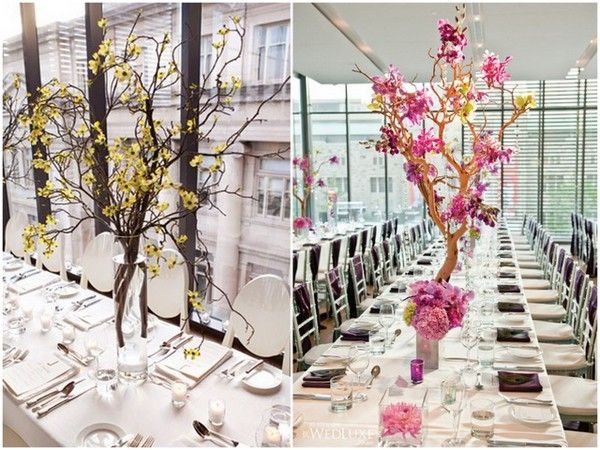 Manzanita Branch Centerpieces Branches For Weddings Love Wed Bliss Flowers Pinterest Wedding And