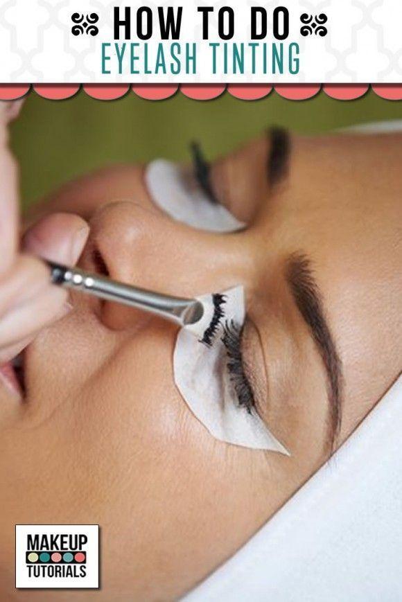 DIY Eyelash Tinting, the best and easy tutorials at home. | http://makeuptutorials.com/makeup-tutorials-eyelash-tinting/