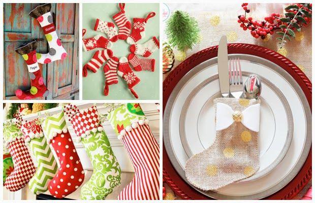 Στολίστε το σπίτι σας με δικές σας παραμυθένιες Χριστουγεννιάτικες δημιουργίες... Γιατί αυτές οι κάλτσες μας αρέσουν πολύ!!!