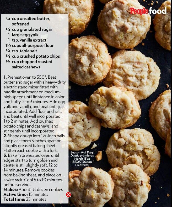 Potato Chip Cashew cookies, People Mag 3/20/2017