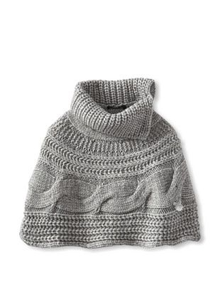 50% OFF Blumarine Girl's Cableknit Capelet (Gray)
