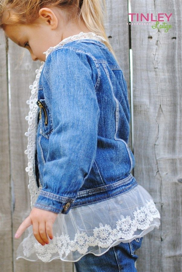 Girl's Denim and Lace Jacket!