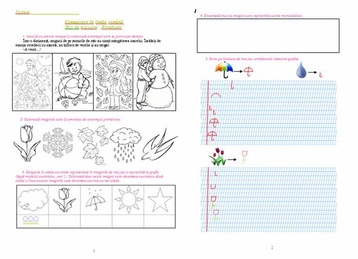 Materiale didactice de 10(zece): Fișă de evaluare - Primăvara, clasa pregătitoare (C.L.R.)