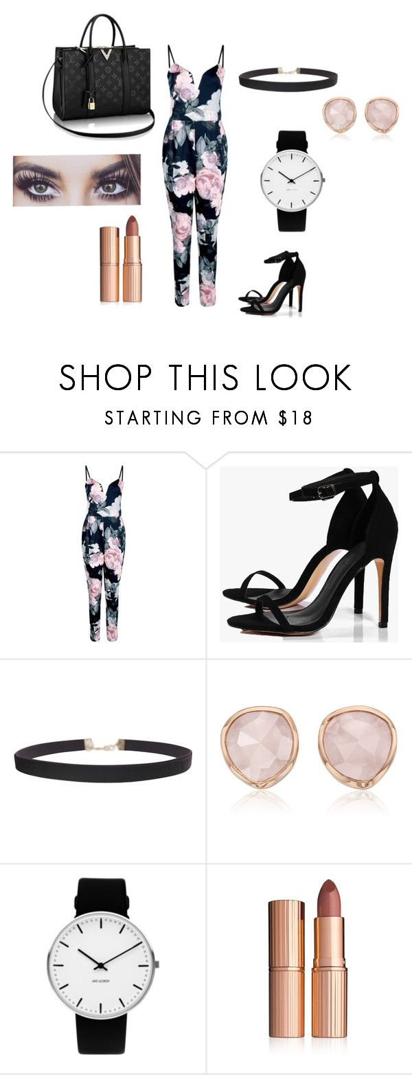 """""""..."""" by kkristinss on Polyvore featuring Boohoo, Humble Chic, Monica Vinader, Rosendahl and Charlotte Tilbury"""