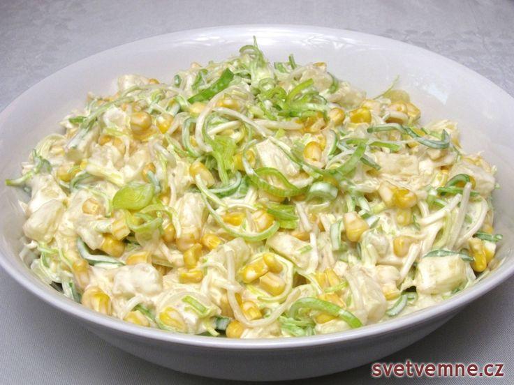 Celerový fit salát, recept