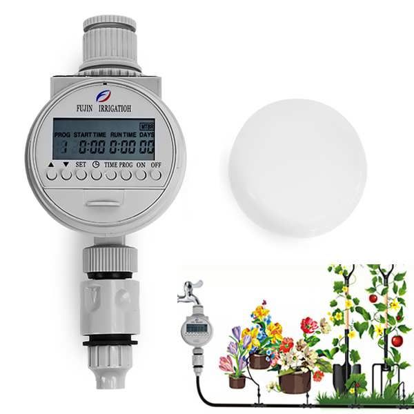 DripIrrigation SystemSolar AutomaticWaterTimerController A good irrigation helper for watering plants at the balcony, home and garden. Never worry about the plant when you are away on official business.No need to connect the alternating current power...