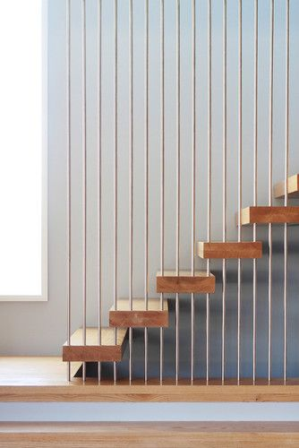Wheeler Residence - modern - staircase - new york - Saniee Architects llc (similar to the house of 11 girls in Spain)