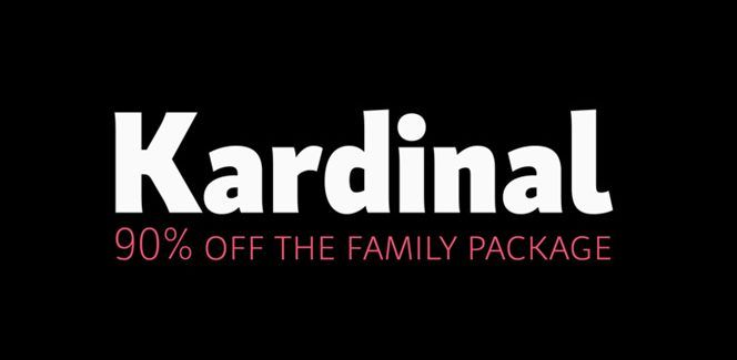 Kardinal typeface - a humanist font family of 32 weights