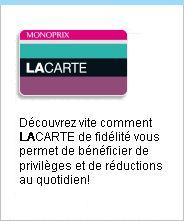 Monoprix, budget Paris department store (the beauty shop in Montmartre is fantastic)