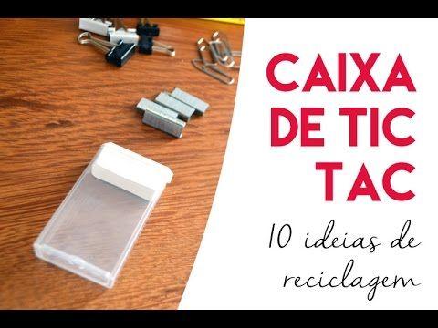 10 ideias para reutilizar caixinhas de Tic Tac – GatoQueFlutua