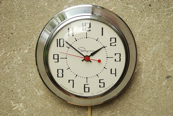 Round Chrome Wall Clock