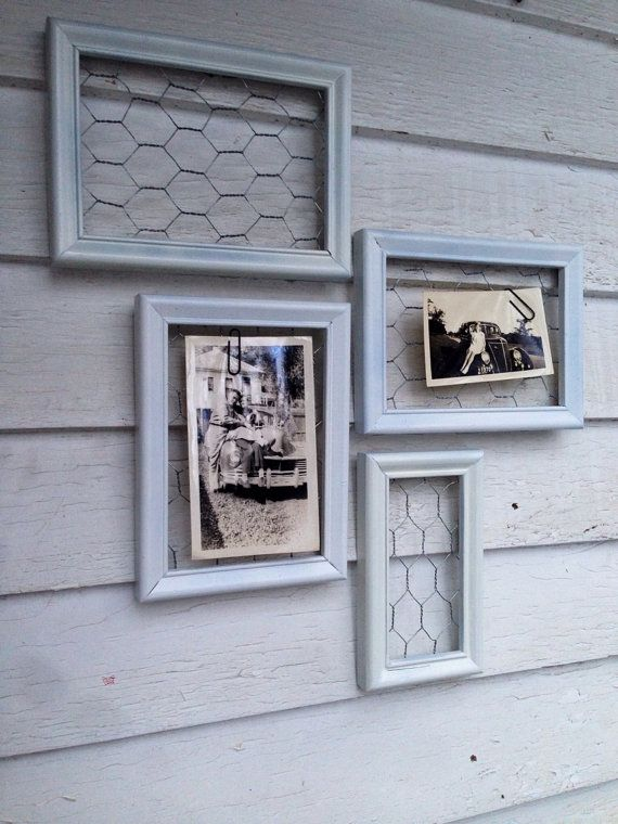 wire picture frame set high gloss white with by