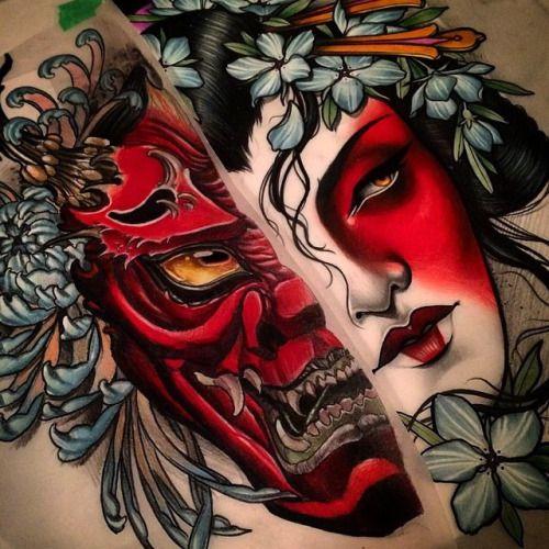 Mask Designs Ideas: 25+ Best Ideas About Hannya Mask Tattoo On Pinterest