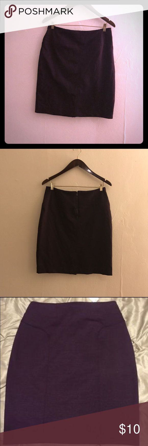 NY & Co Dark Purple Stretch Skirt Brand New New York & Company Skirts Midi