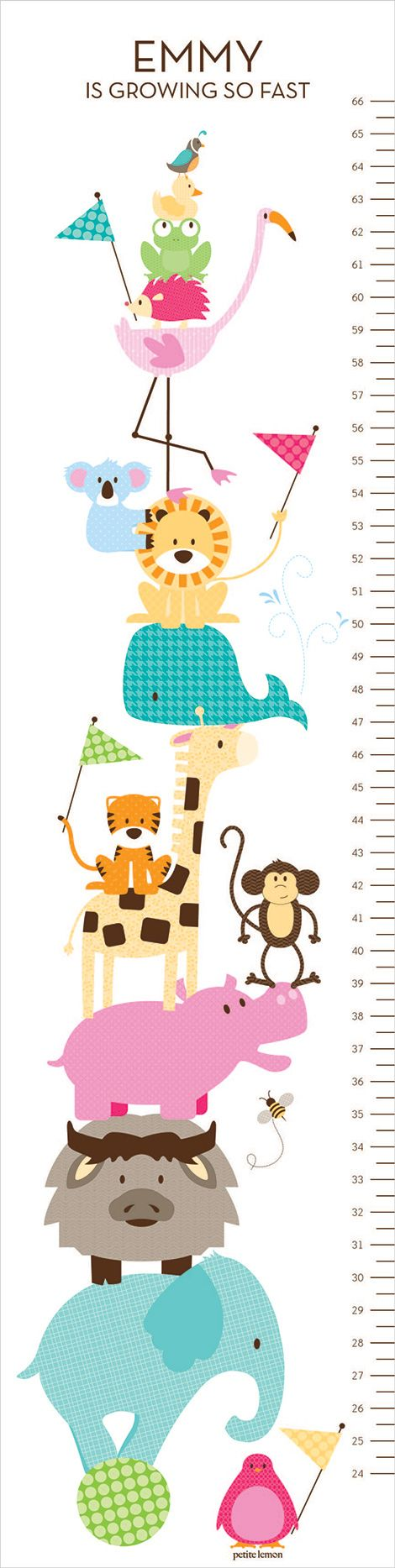 708 best kids room images on pinterest drawings animal animal growth chart by petite lemon nvjuhfo Image collections