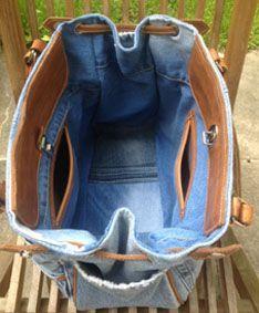 Jeans Tasche mit Leder <3                                                                                                                                                                                 Mehr