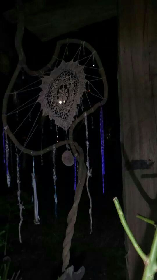 My dream catcher caught the moon!!!!!