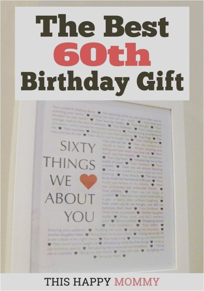 60th Birthday Gift Ideas 60 Things We Love About You Crafts Pinterest