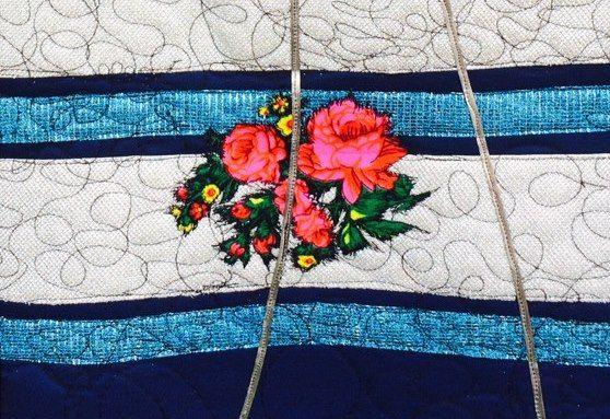 Romani Unique white stripes pattern 2015 gypsy roma style rose fashion textile rose inspiration hungary budapest