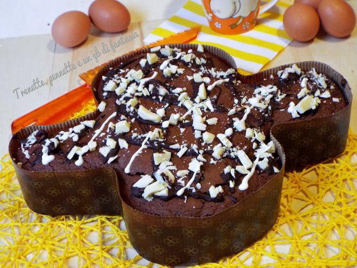 Torta Colomba al cioccolato, un modo simpatico di come portare a tavola o ad una gita fuori porta questa Torta gustosa al sapore di cioccolato quello delle