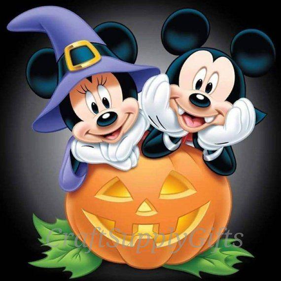 5D DIY Diamond Painting Halloween Mickey & Minnie Mouse Mosaic Cross  Stitch Full Square Drill 3D D… | Mickey mouse halloween, Mickey halloween,  Disney halloween