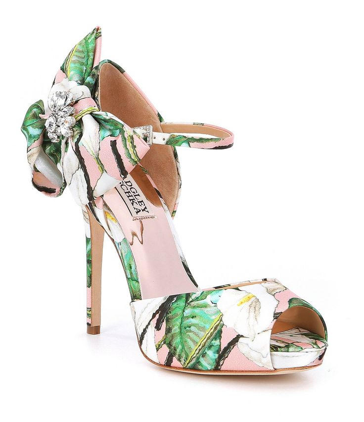 Shop for Badgley Mischka Samra Floral Satin Bow Detail Dress Sandals at Dillards.com. Visit Dillards.com to find clothing, accessories, shoes, cosmetics & more. The Style of Your Life.